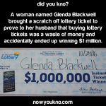 Woman accidentally wins $1m from scratch-off