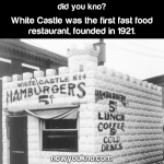 The first fast food restaurant
