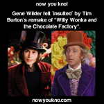Gene Wilder felt insulted by the Willy Wonka remake