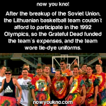 The Grateful Dead funded the Lithuanian basketball team