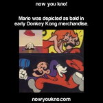 Mario used to be bald