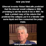 Ethernet inventor literally ate his words