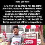 13-year-old opens Hot Dog Stand