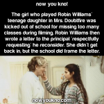 The time Robin Williams wrote the principal
