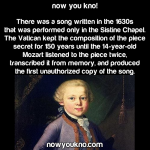 Mozart pirated music
