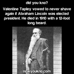 Valentine Tapley's Beard of Protest