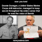 The voice of Bambi was a decorated marine