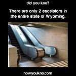There are only 2 escalators in the entire state of Wyoming