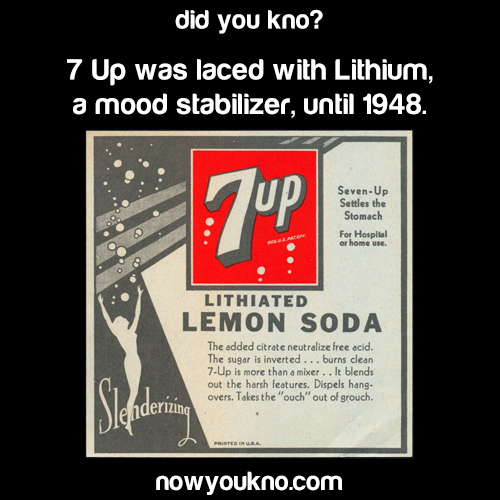 7UP used to be laced with lithium