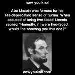"When Abe Lincoln was called ""two-faced"""