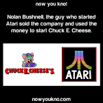 Atari founder started Chuck E Cheese