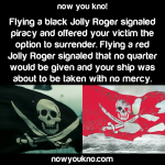 What black and red pirate flags mean