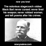 Gentleman robber Black Bart