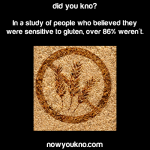 86% who believe they're sensitive to gluten aren't
