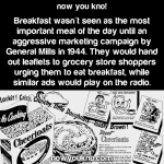 "How Breakfast became ""the most important meal of the day"""