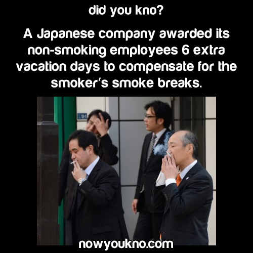Japanese company gives non-smokers more vacation days