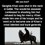 Genghis Khan turns attempted assassin into loyal general