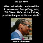Snoop Dogg wants to smoke out Bill Clinton