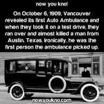 Vancouver's first auto ambulance