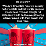Wendy's Chocolate Frosty is only half chocolate