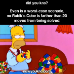 Any Rubik's Cube can be solved in 20 moves or less