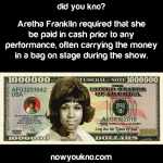 Aretha Franklin was about her money