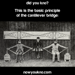The basic principle of the cantilever bridge