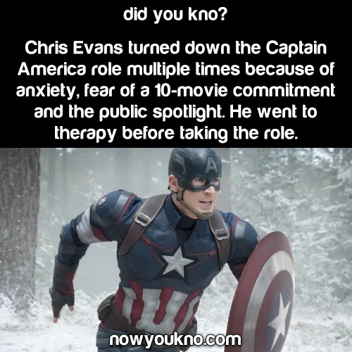Chris Evans didn't want to play Captain America