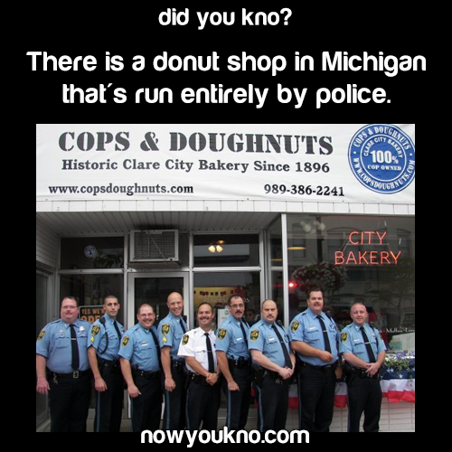 Donut shop run by cops