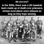 Death-row baseball team