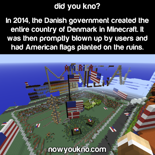 Denmark's Minecraft server invaded