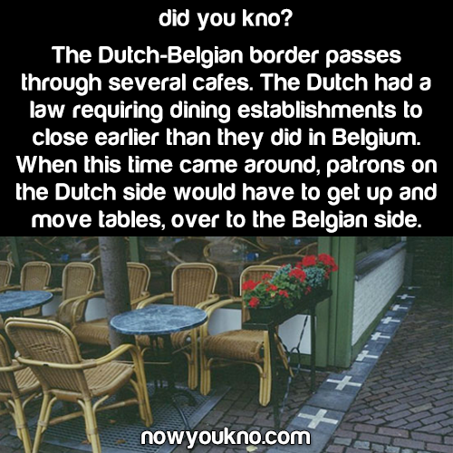 Dutch-Belgian border cafes