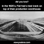 Fiat's rooftop test track