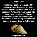 Fortune cookies are Japanese not Chinese