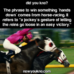 """Where winning """"hands down"""" comes from"""