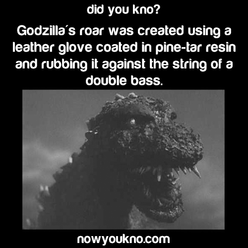 How Godzilla's roar was created