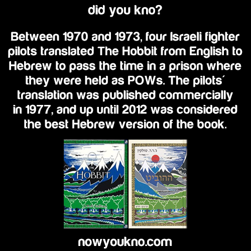 How the Hebrew Hobbit came to be