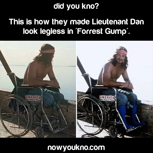 How they made Lt. Dan look legless