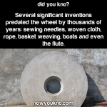 Inventions predating the wheel