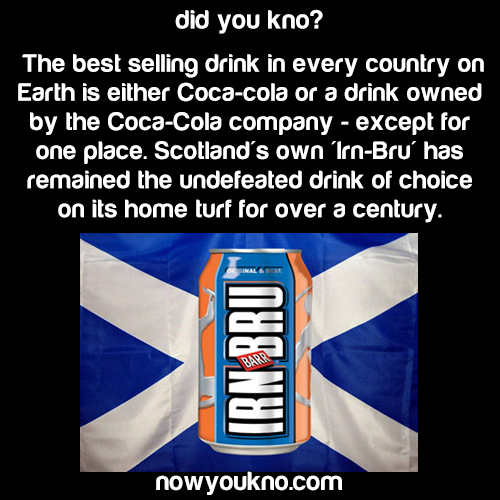 Scotland's most popular drink