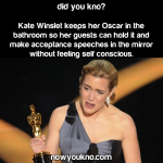 Kate Winslet keeps her Oscar in the bathroom