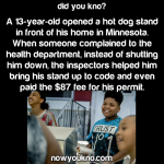 City helps kid's hot dog stand take off