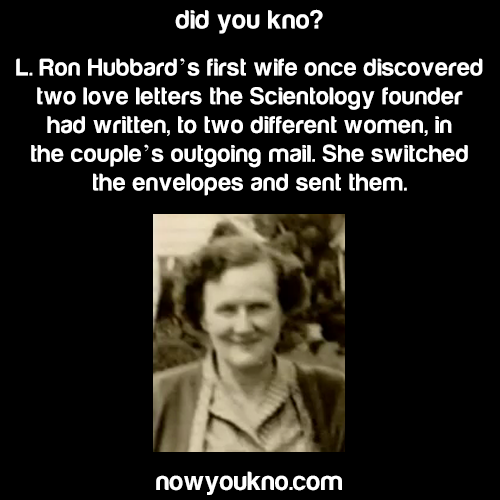 L. Ron Hubbard's wife didn't play