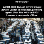 London's anti-Uber protests helped Uber a ton