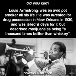 Louis Armstrong on marijuana