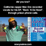 Mac Dre recorded an EP in prison