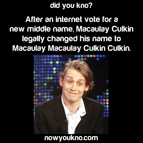 Macaulay Culkin's new legal name