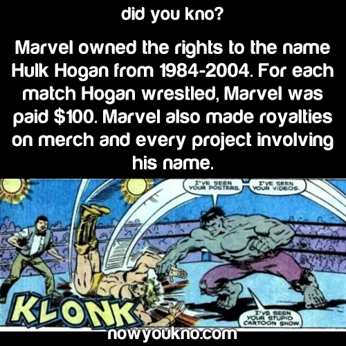 Hulk Hogan had to pay Marvel