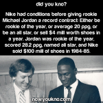 Michael Jordan vastly exceeded Nike's expectations
