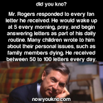When Mr. Rogers got fan mail